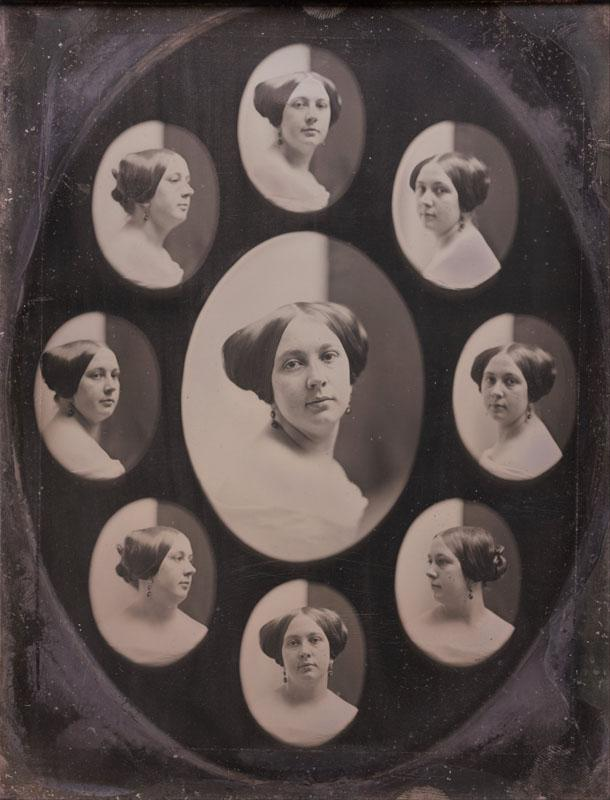 Southworth and Hawes - Portrait of a Woman in Nine Oval Views