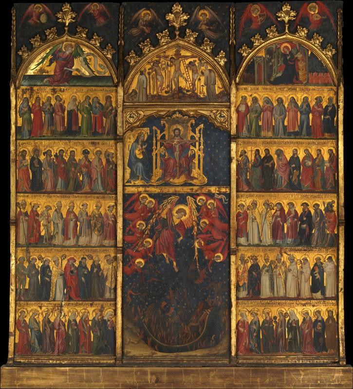 Spanish Painter--The Trinity Adored by All Saints