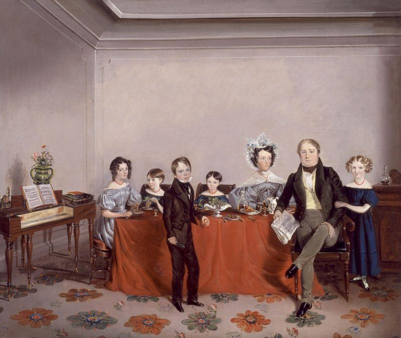 Stanley Lees Giffard and his family from NPG