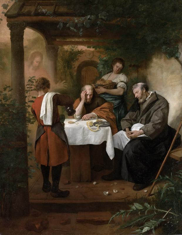 Steen, Jan Havicksz. -- De Emmausgangers, 1665-1668