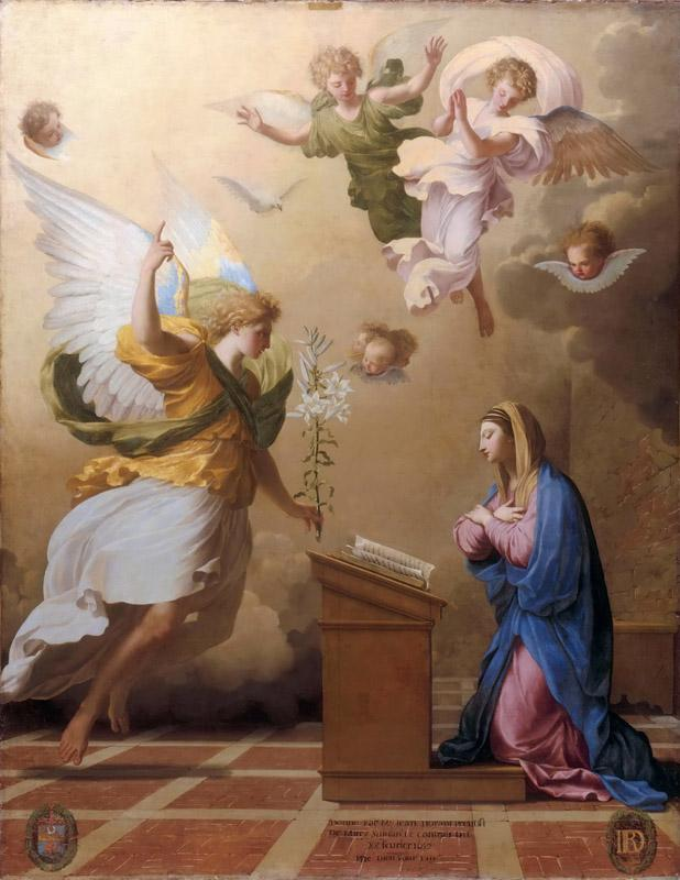 Studio of Eustache Le Sueur -- The Angelic Salutation