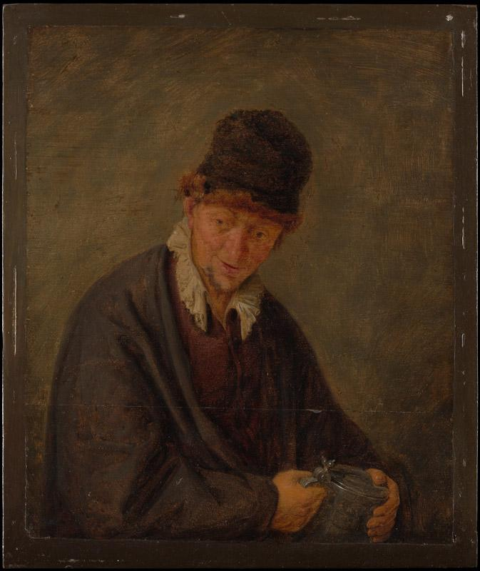 Style of Adriaen van Ostade--Man with a Tankard