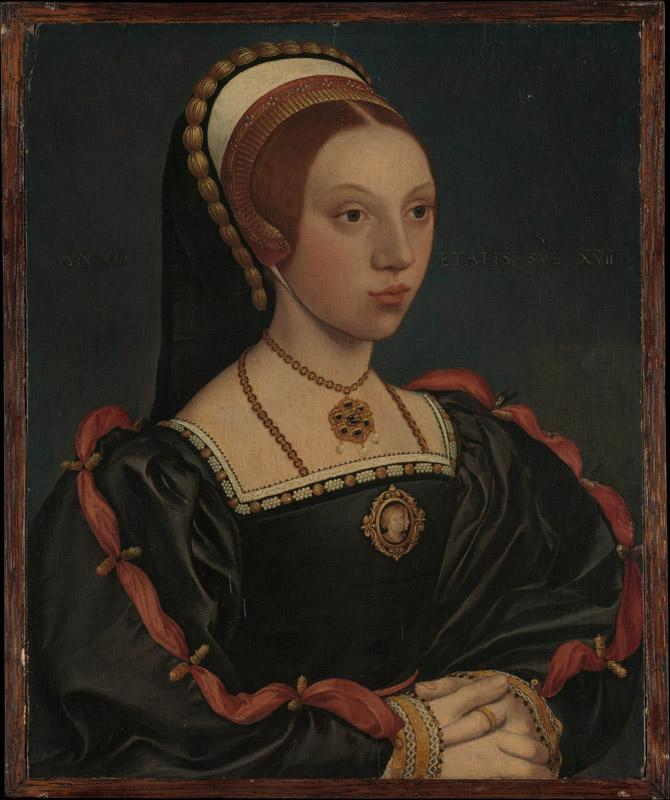 Style of Hans Holbein the Younger--Portrait of a Young Woman