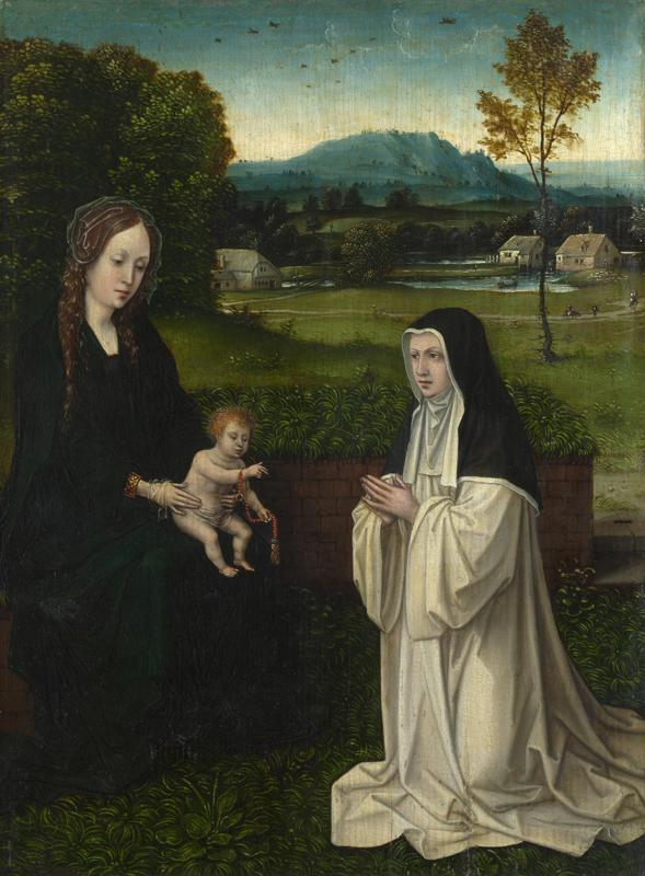 Style of Joachim Patinir - The Virgin and Child with a Cistercian Nun
