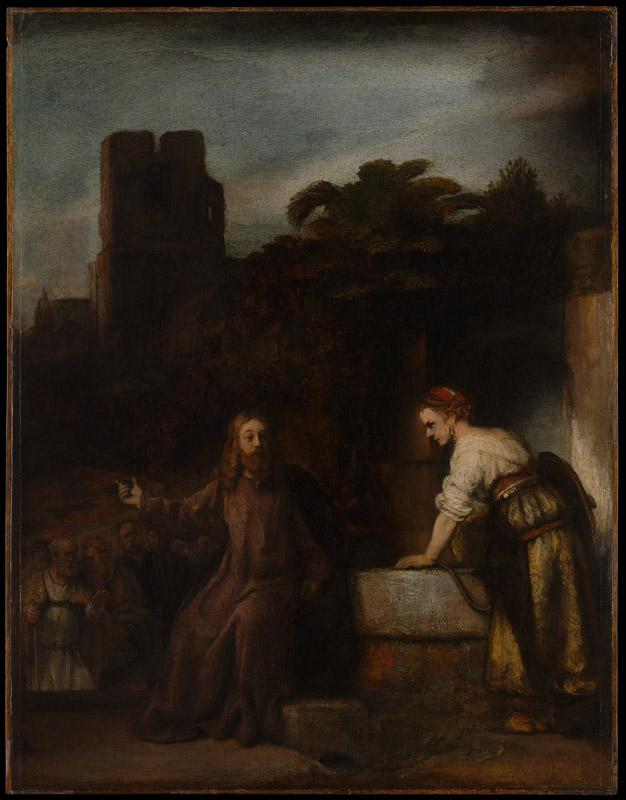 Style of Rembrandt--Christ and the Woman of Samaria
