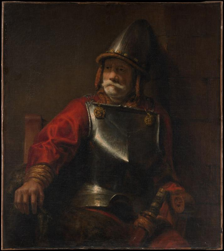 Style of Rembrandt--Man in Armor