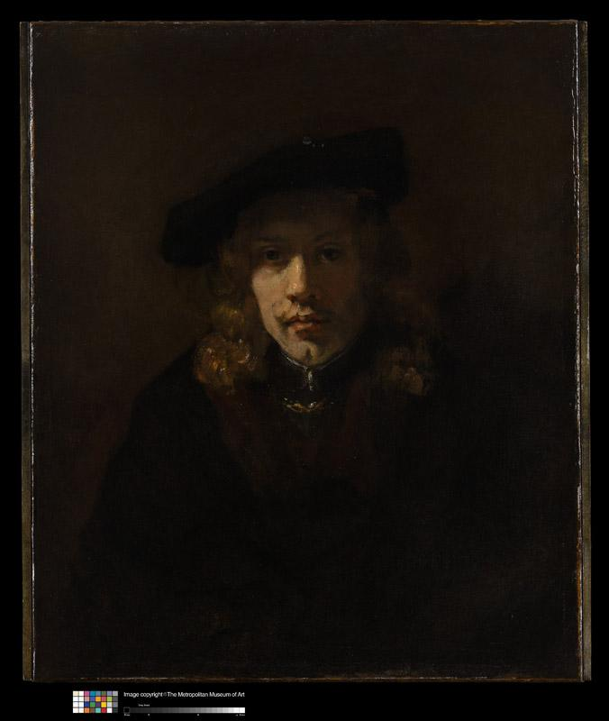 Style of Rembrandt--Man in a Beret