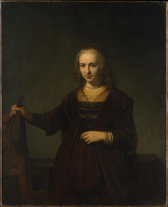 Style of Rembrandt--Portrait of a Woman