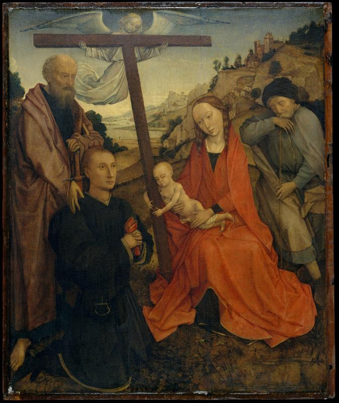 Style of Rogier van der Weyden--The Holy Family with Saint Paul and a Donor