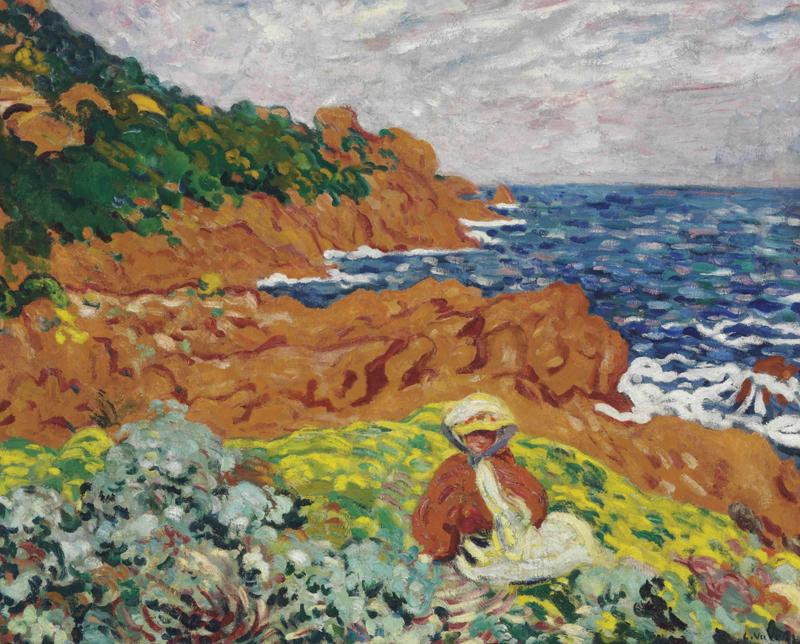 Suzanne Valtat on the Coast of Antheor, 1904