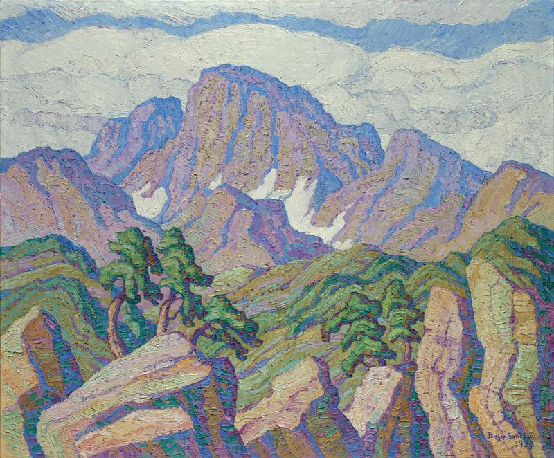 Sven Birger Sandzen - The Great Peak (Longs Peak), 1938
