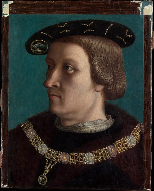 Swiss Painter--Portrait of a Man Wearing the Order of the Annunziata of Savoy
