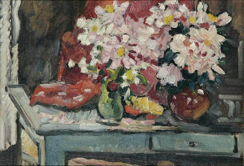 Table with Two Bouquets, 1920