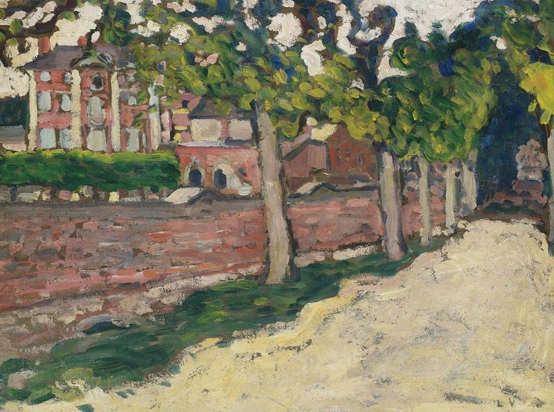 The Boulevard with Pink Wall, 1896