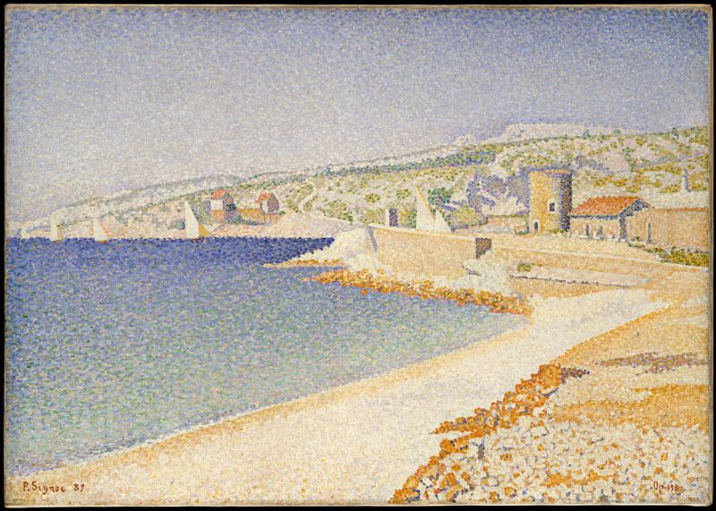 The Jetty at Cassis, Opus 198-Paul Signac (French, Paris 1863-1935 Paris)
