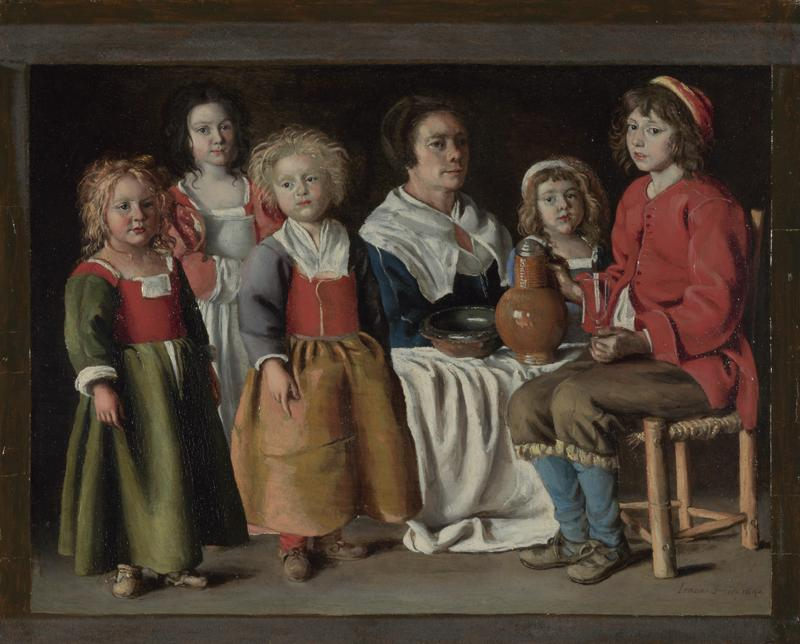 The Le Nain Brothers - A Woman and Five Children