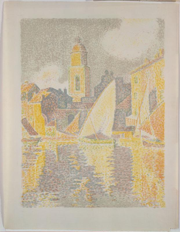 The Port, Saint-Tropez-Paul Signac (French, Paris 1863-1935 Paris)