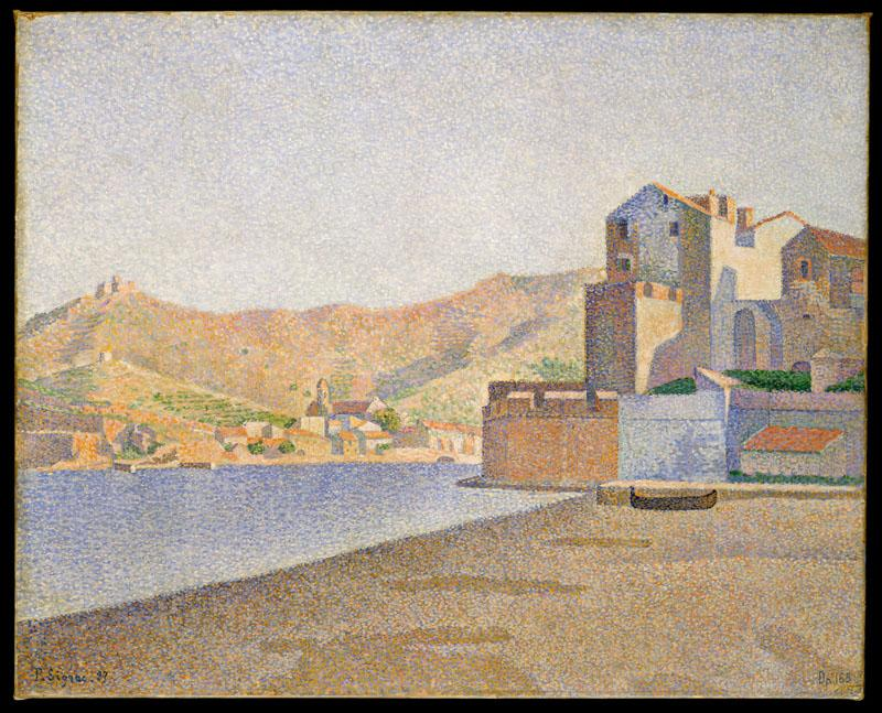 The Town Beach, Collioure, Opus 165Paul Signac (French, Paris 1863-1935 Paris)