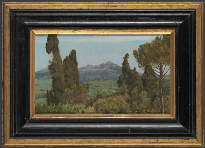 The View of Montecelio from the Villa d Este, Tivoli - Matthew Ridley Corbet