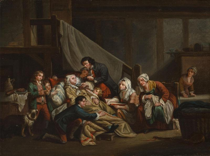 The paralytic man helped by his children