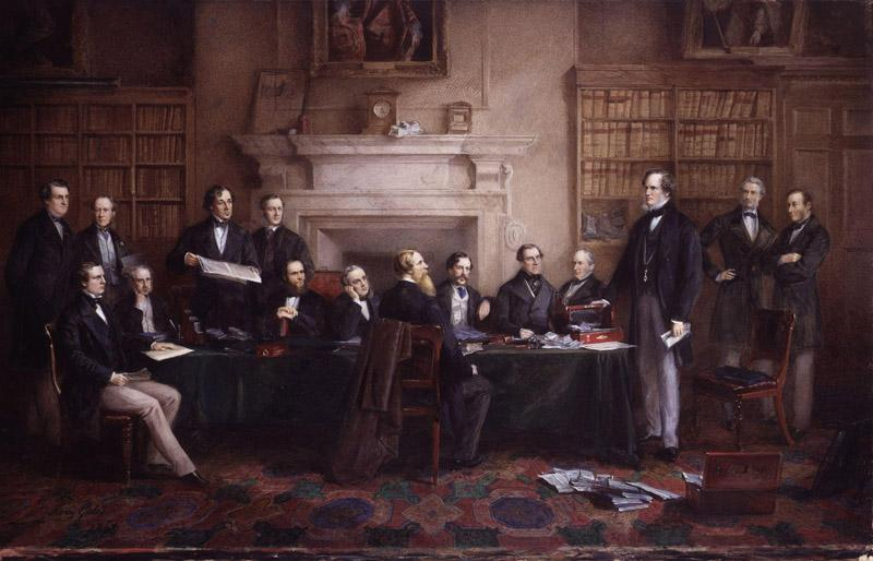 The Derby Cabinet of 1867 by Henry Gales
