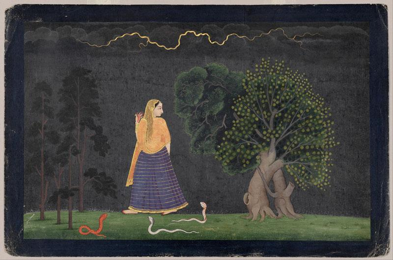 The Family of Nainsukh - Heroine Rushing to Her Lover (Abhisarika Nayika )