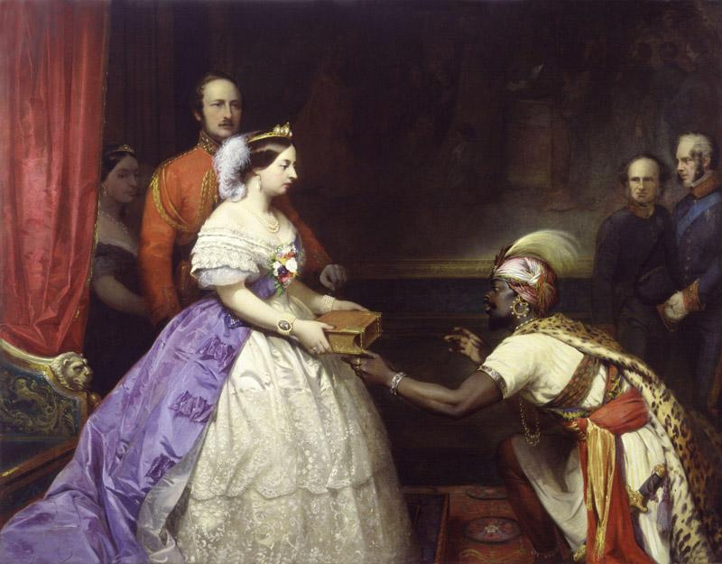 The Secret of England Greatness (Queen Victoria presenting a Bible in the Audience Chamber at Windsor) by Thomas Jones Barker