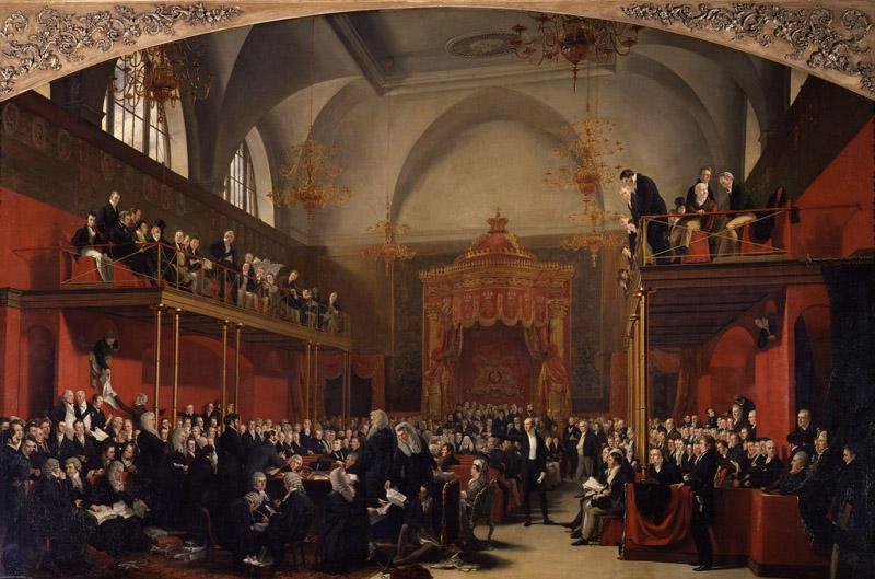 The Trial of Queen Caroline 1820 by Sir George Hayter