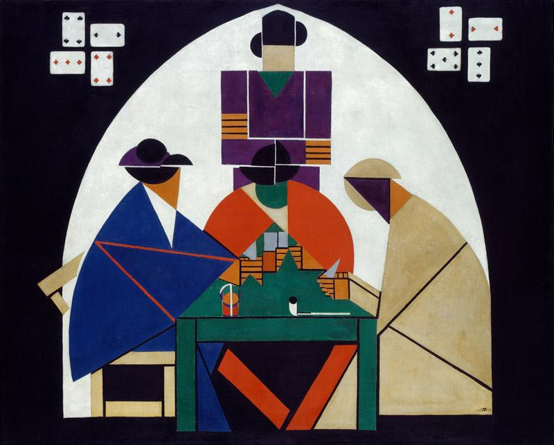 Theo van Doesburg - Card players