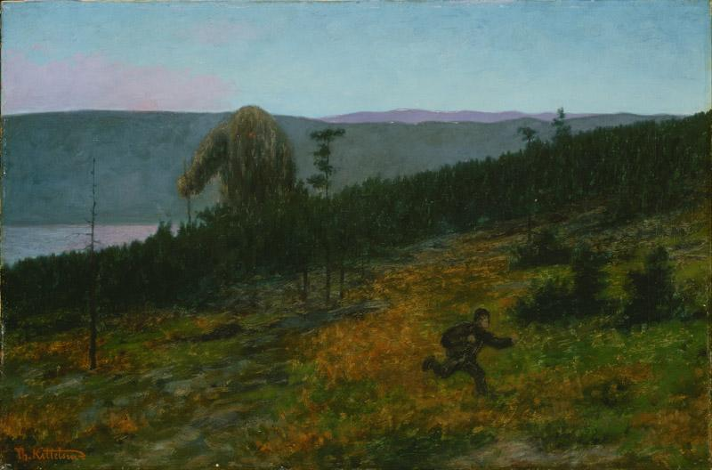 Theodor Kittelsen - The Ash Lad and the Troll