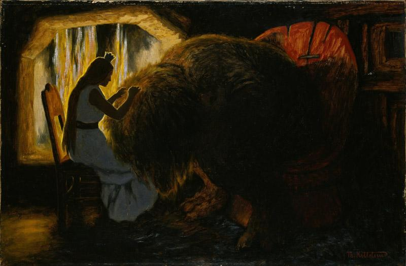 Theodor Kittelsen - The Princess picking Lice from the Troll
