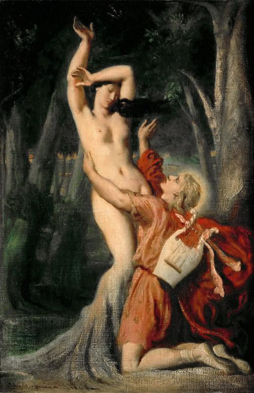 Theodore Chasseriau -- Apollo and Daphne