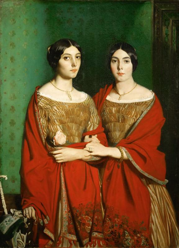 Theodore Chasseriau -- The Painter Two Sisters Adele and Genevieve Chasseriau