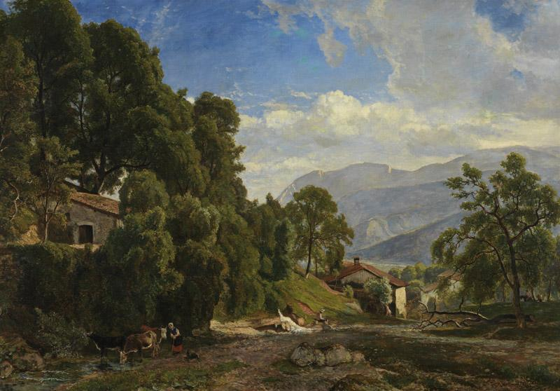 Theodore Fourmois - Mountains at Voreppe (Dauphine)