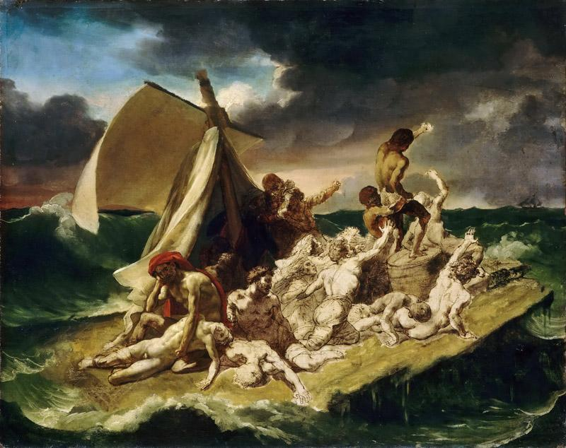 Theodore Gericault -- Raft of the Medusa, second painted sketch
