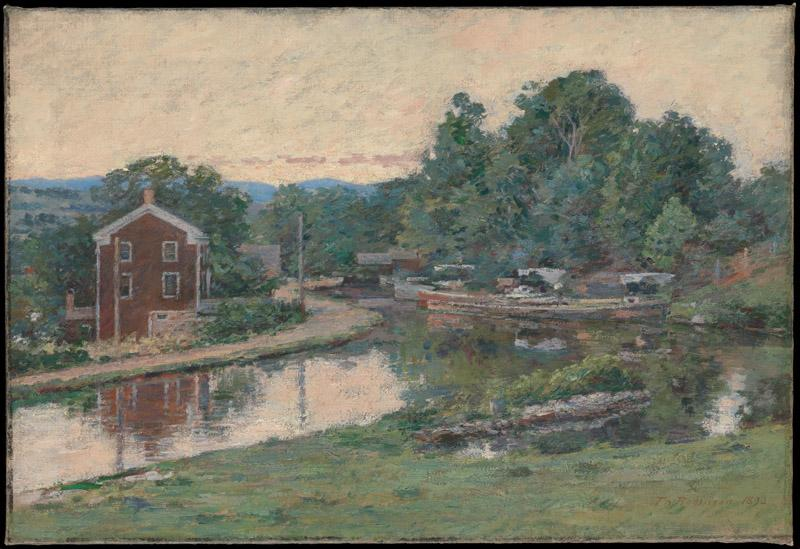 Theodore Robinson--Evening at the Lock, Napanoch, New York