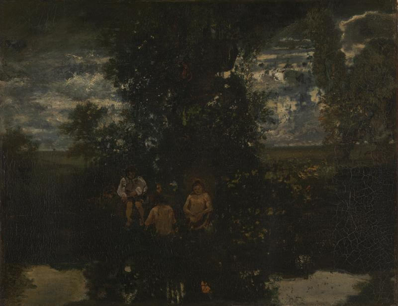 Theodore Rousseau - Moonlight - The Bathers