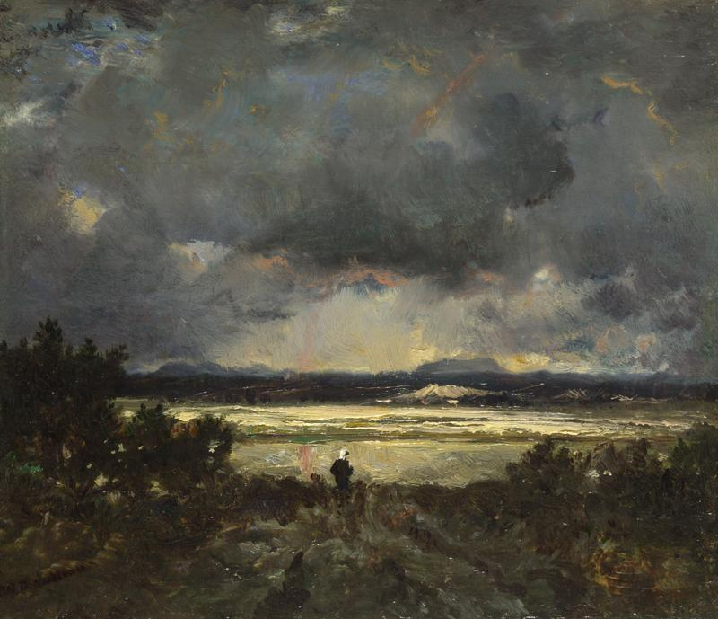 Theodore Rousseau - Sunset in the Auvergne