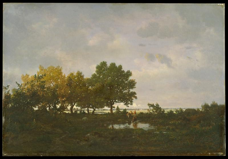 Theodore Rousseau--The Pond (La Mare)