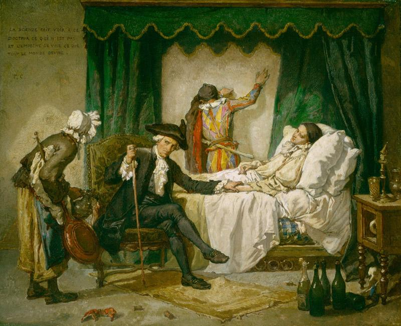Thomas Couture - The Illness of Pierrot, ca. 1859-1860