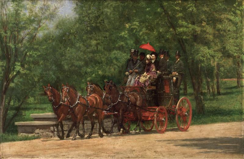 Thomas Eakins, American, 1844-1916 -- A May Morning in the Park (The Fairman Rogers Four-in-Hand)