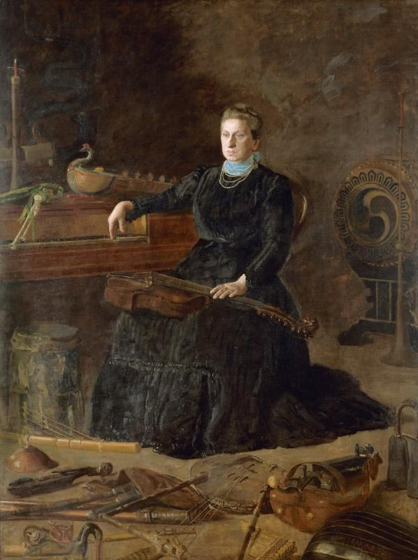 Thomas Eakins, American, 1844-1916 -- Antiquated Music (Portrait of Sarah Sagehorn Frishmuth)
