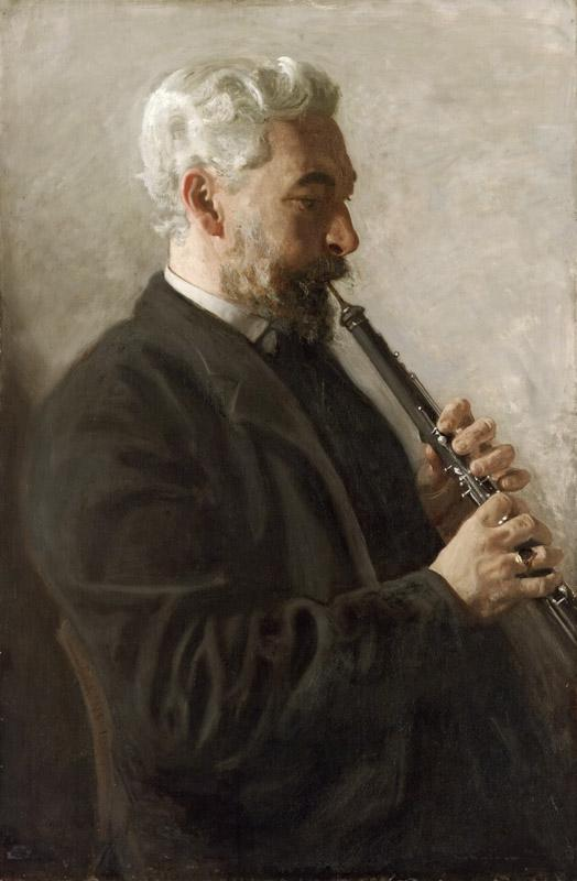 Thomas Eakins, American, 1844-1916 -- The Oboe Player (Portrait of Dr