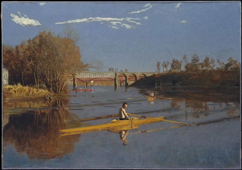 Thomas Eakins--The Champion Single Sculls (Max Schmitt in a Single Scull)