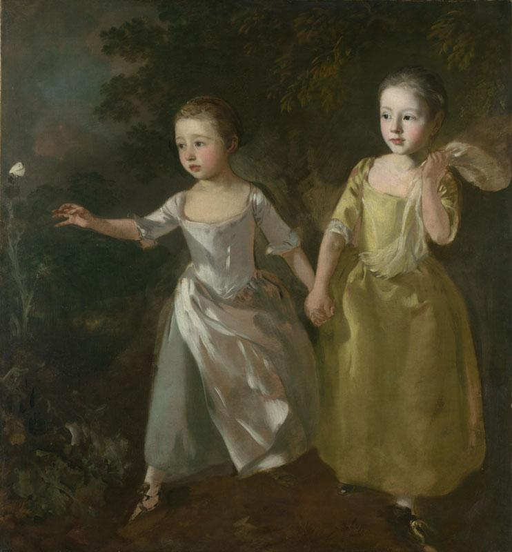 Thomas Gainsborough - The Painter Daughters chasing a Butterfly