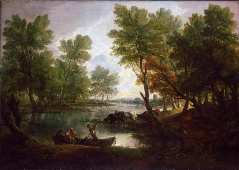 Thomas Gainsborough, English, 1727-1788 -- View near King Bromley, on Trent, Staffordshire