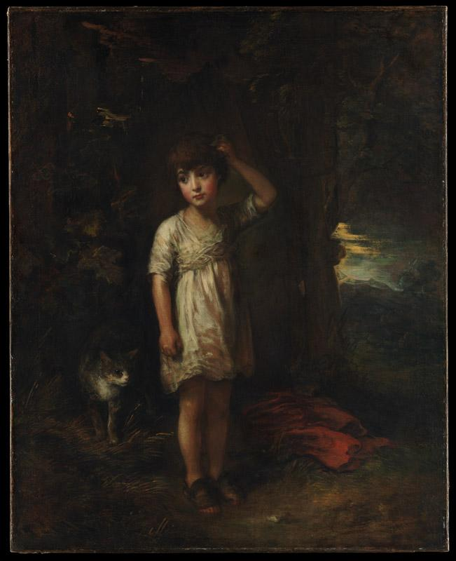 Thomas Gainsborough--A Boy with a CatiMorning