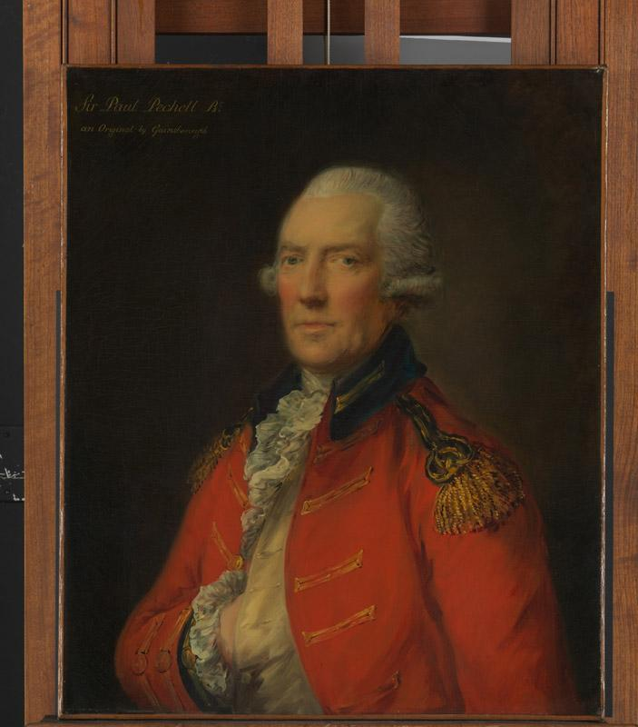 Thomas Gainsborough--Lieutenant Colonel Paul Pechell (1724-1800)
