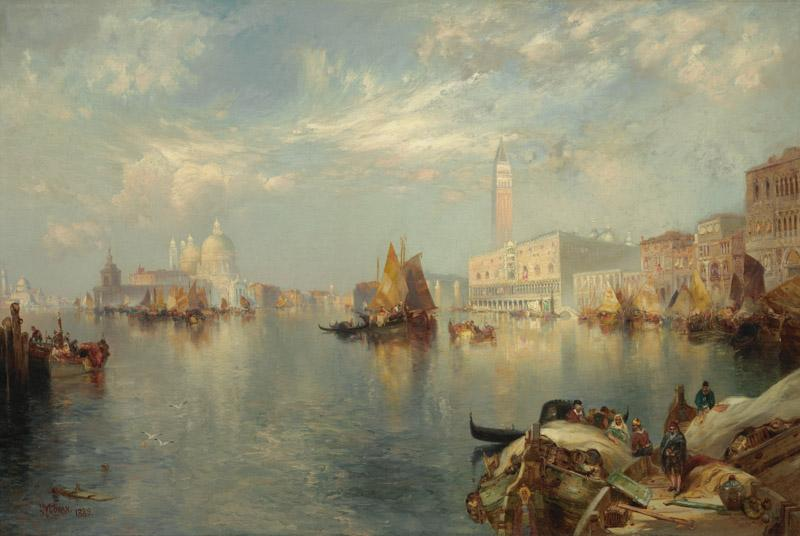 Thomas Moran - Venice, the Grand Canal with the Doge Palace, 1889