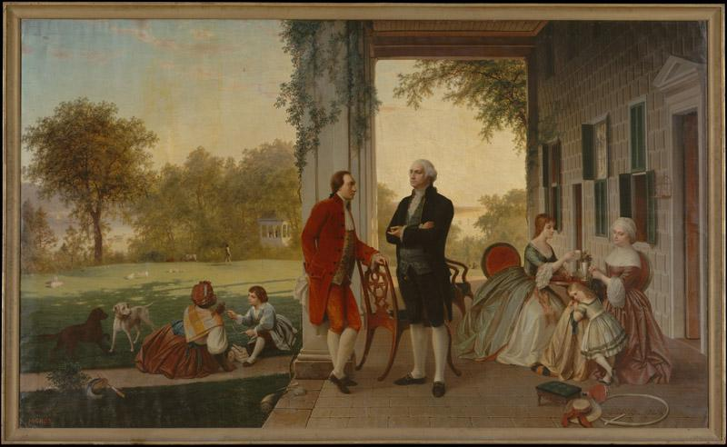 Thomas Pritchard Rossiter--Washington and Lafayette at Mount Vernon